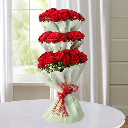 Multi Storied Roses: Red Rose Flowers