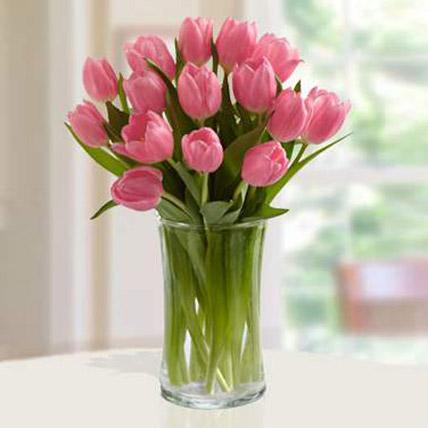 Pink Tulips Arrangement: