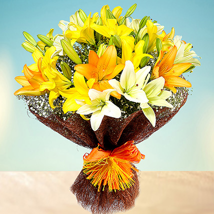 Sunny Asiatic Lilies: Anniversary Gifts For Him