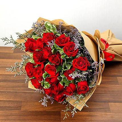 Bouquet Of 20 Red Roses: Gifts Delivery in Al Hofuf