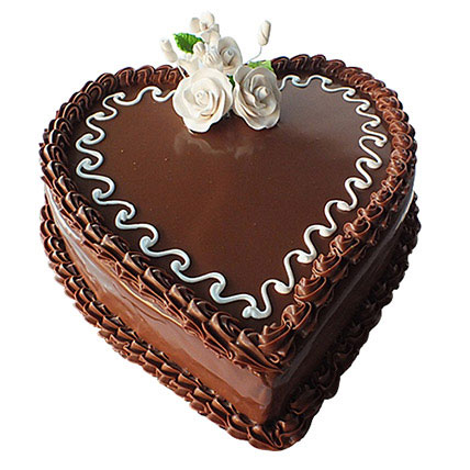 Choco Heart Cake: Heart Shaped Cakes Delivery