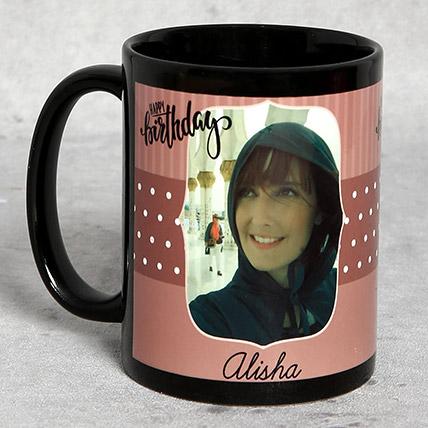 Black Personalised Birthday Mug: Buy Mugs