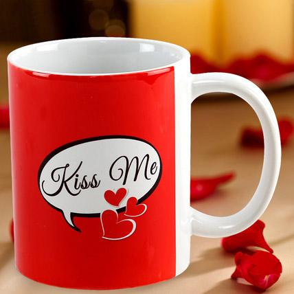 Kiss Me Mug: Personalised Gifts
