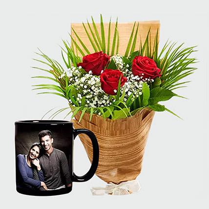 Personalised Mug And Red Roses: Gifts On Sale