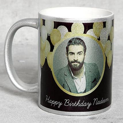 Personalised Silver Birthday Mug: Personalised Gifts