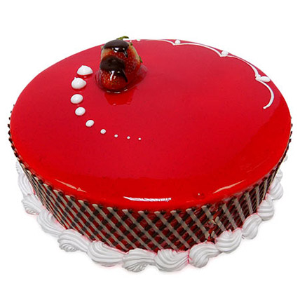 500Gm Strawberry Carnival Cake: Strawberry Cakes