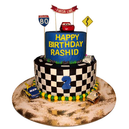Car Race Cake: Birthday Cakes for Kids