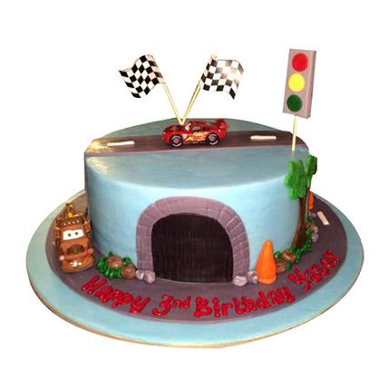 Cartoon Cars Cake: Birthday Cakes for Kids