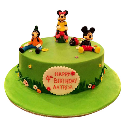 Mickey And Family Cake: Birthday Cakes for Kids