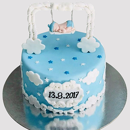 New Born Baby Designer Cake: New Born Cakes