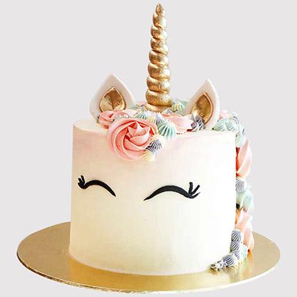 Pretty Unicorn Themed Cake: Birthday Cakes for Kids