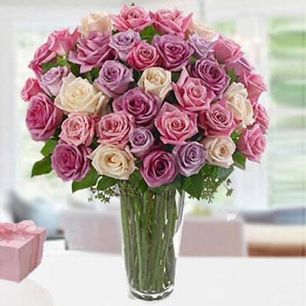 3 Dozen Mix Roses:  Rose Delivery in Saudi Arabia