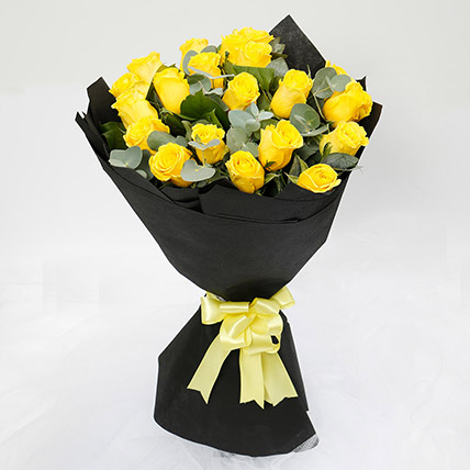 20 Yellow Roses Bouquet: