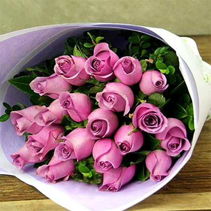 Bouquet Of 20 Pink Roses: Thank You Gifts