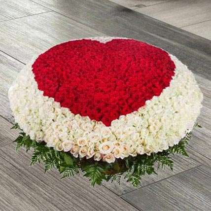 Exquisite Love Of Red N White: Flowers Same Day Delivery