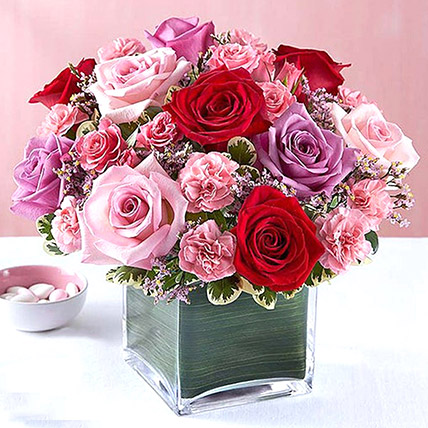 Lovely Roses In A Vase: