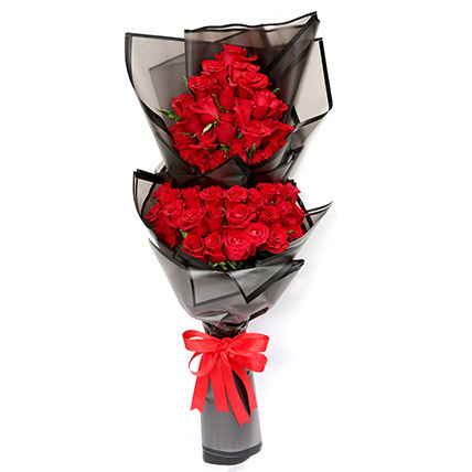 Prettiest 50 Red Roses Bouquet: Send Flowers to Abha