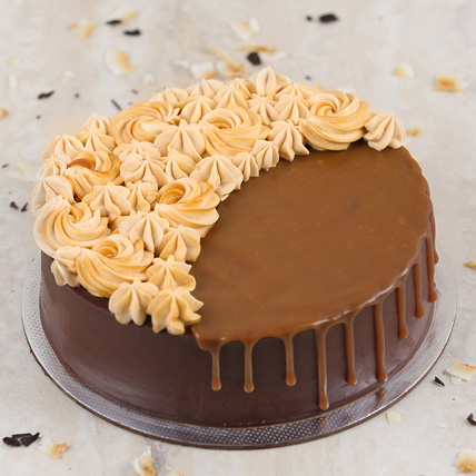 Chocolate Caramel Cake Half Kg: