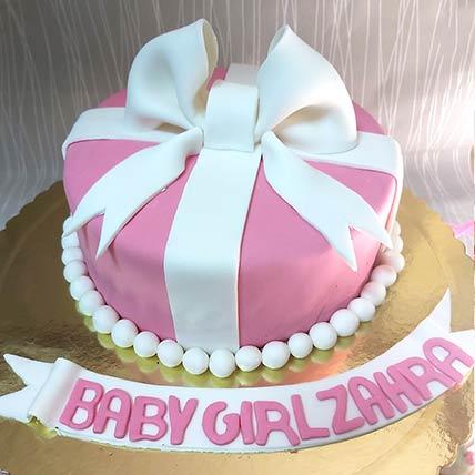 Baby Girl Gift Chocolate Cream Cake: Birthday Cakes for Kids