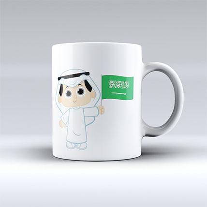 Printed Saudi Arabia Mug: National Day Gift Ideas