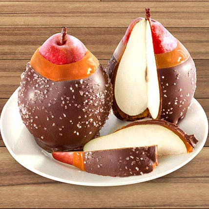 Chocolate Covered Caramel Dipped Pears Duo: