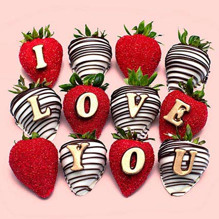 I Love You Chocolate Strawberries: