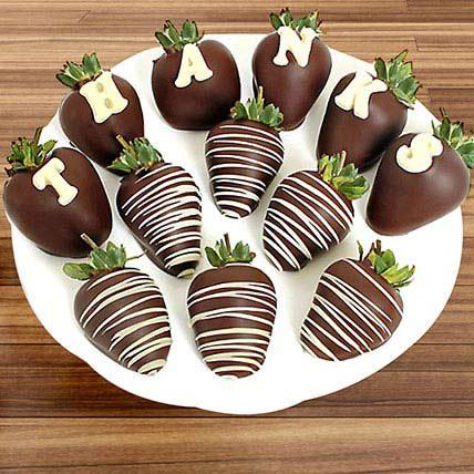 Thanks Belgian Chocolate Strawberries: