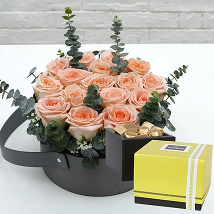 Sweet Pink Roses & Patchi Chocolates: Graduation Gifts
