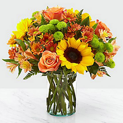 Colours Of Life Flower Vase: Thanksgiving Day Gifts