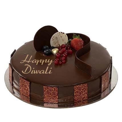 Half Kg Chocolate Truffle Diwali Cake: Cakes Half Kg