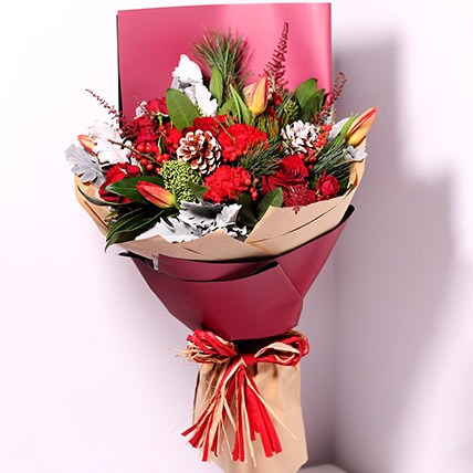 Tulips And Carnations Graceful Bouquet: Carnations Delivery
