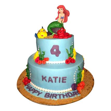 Disney Ariel Princess Cake: