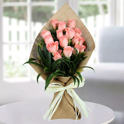Sweet Pink Roses Bunch: Send Flowers to Abha