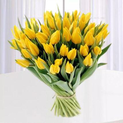Yellow Tulips Bunch: Tulip Flowers