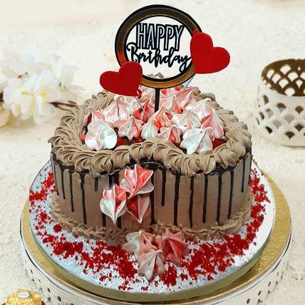 Heart Shaped Chocolate Buttercream Cake: Birthday Gifts