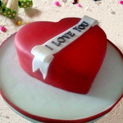 Lovely Heart Shaped Cake: Wedding Anniversary Cake