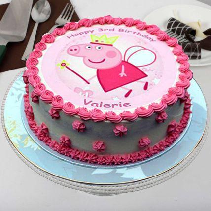 Peppa Pig Theme Buttercream Cake: Cartoon Cakes