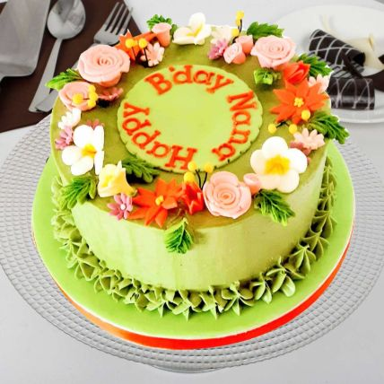 Pretty Flowers Vanilla Cake: Designer Cakes