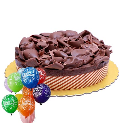 Chocolate Mousse Cake & Balloons Combo: Balloons