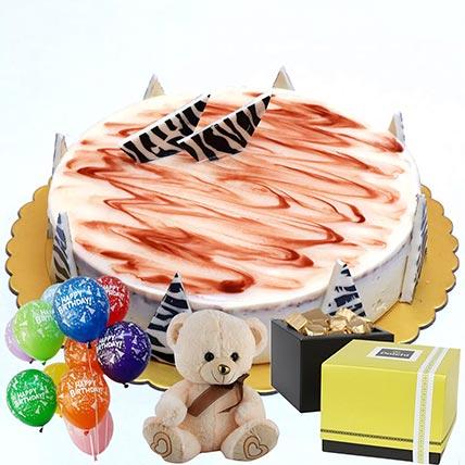Chocolate Cake & Chocolates Combo: Balloons