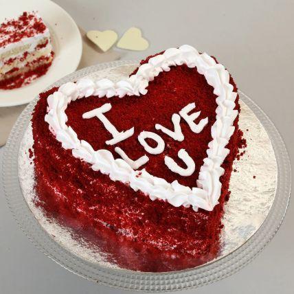 Red Velvet Love You Cake: Order Red Velvet Cakes