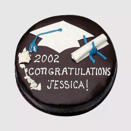 Round Graduation Chocolate Cake: Cakes for Graduation