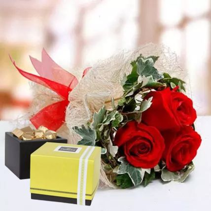 Sweet Love Roses & Patchi Chocolates: Gifts for Chocolate Day