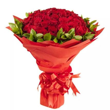 Sweet Sixty Red Roses Bouquet: Valentines Day gifts for Wife
