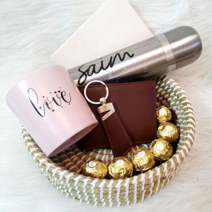 Show Him Love Gift Basket:
