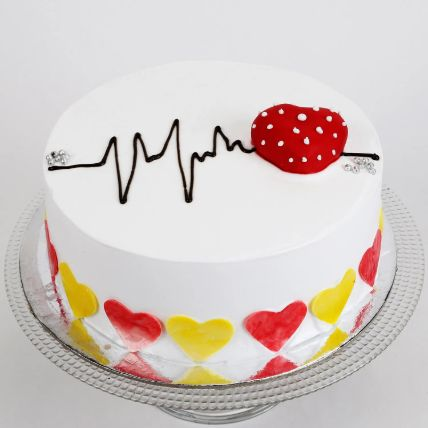 Heart Beat Cake: Valentines Day Cake