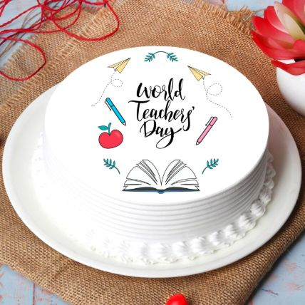 World Teachers Day Chocolate Cake: Order Cakes