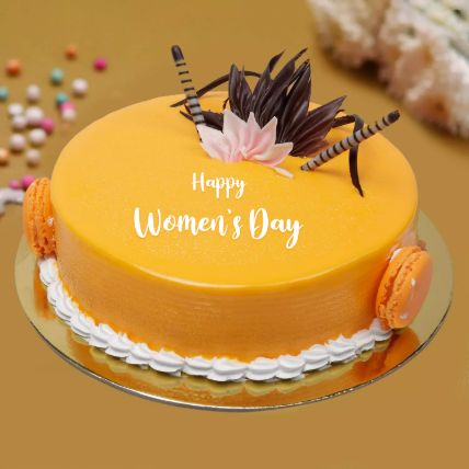 Womens Day Delicate Mango Cake: Order Cakes