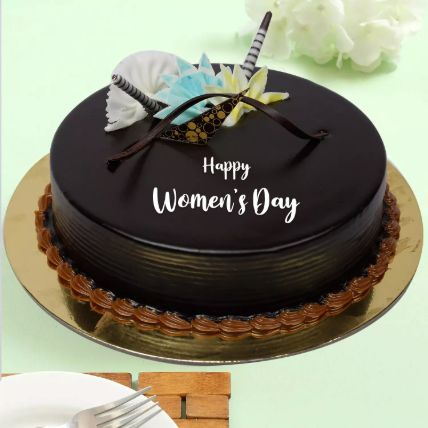 Womens Day Special Chocolate Cake: Womens Day Gifts