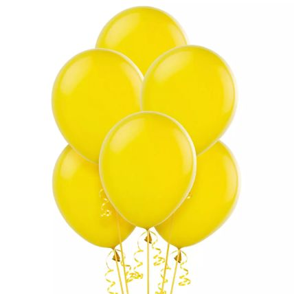 Yellow Helium Balloons: Balloons